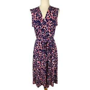 Leota Perfect Wrap Dress in Petals NWT L